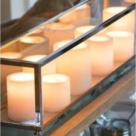 Lampe de table LED bronze-chrome-nickel 9 bougies 1m