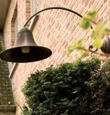 Wandlamp buiten landelijk brons boog E27 85cm diep