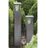 Bollard design bronze-chrome-brushed nickel E27 40cm H