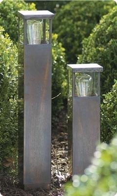 Bollard design bronze-chrome-brushed nickel E27 40cm H