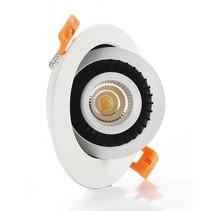 Spot encastrable LED 7W 360° orientable blanc rond, carré