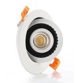 Inbouwspot LED 7W 360° richtbaar rond of vierkant wit