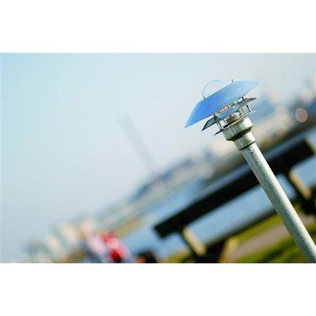 Lampadaire exterieur pas cher métal verre IP54 1180mm H