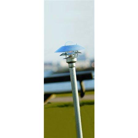 Bollard lighting metal glass IP54 1180mm high