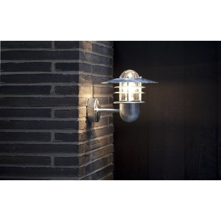 Outdoor wall light fixture 3 rings IP54 E27 240mm high
