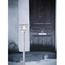 Tuinpaal lampenkap metaal glas IP54 830mm hoog