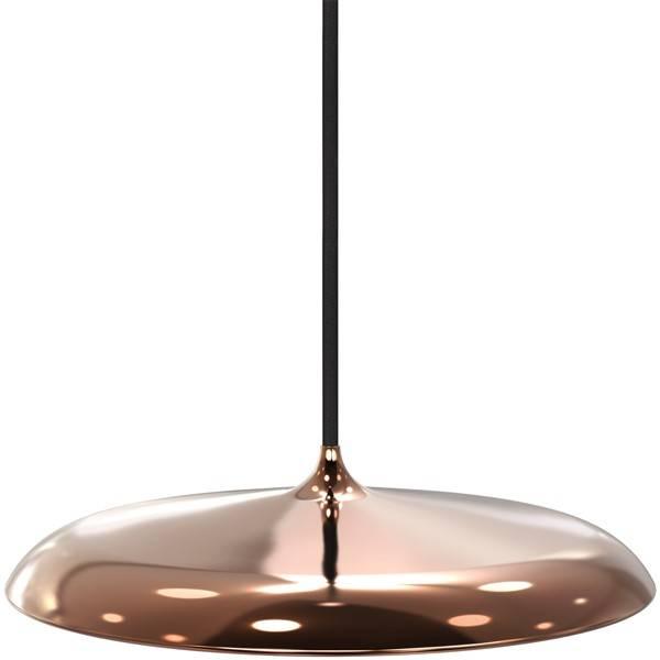 Pendant light round LED grey or copper 16W 250mm Ø