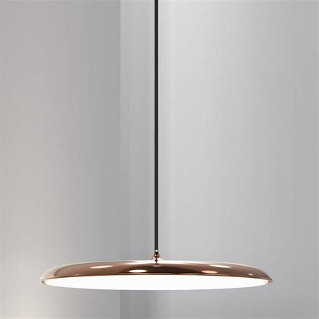 Pendant light round LED grey or copper 27W 400mm Ø