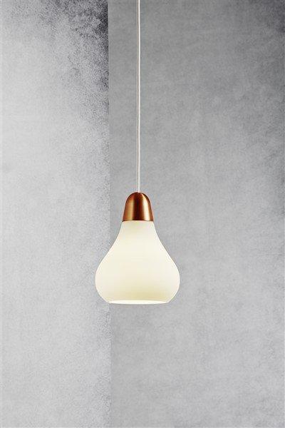 luminaire suspendu design cuivre acier verre poire e27 160 myplanetled. Black Bedroom Furniture Sets. Home Design Ideas