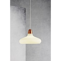 Pendant light design copper, steel, glass pear E27 290mm