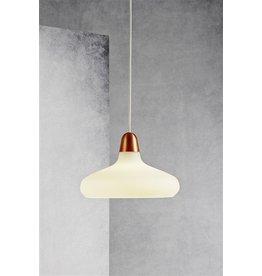Pendant light design copper, steel, glass pear E27 290mm