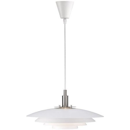 Pendant light white metal E27 380mm diameter