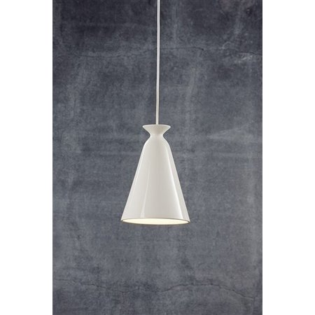 Pendant light white, black or orange ceramics E27 230mm H