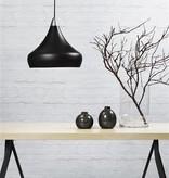 Pendant light black, white or sanded E27 conic 300mm Ø