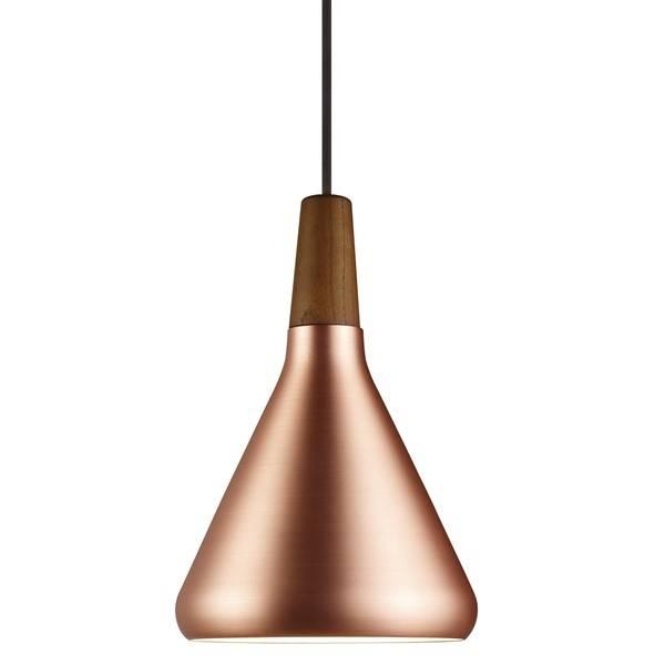 luminaire suspendu cuivre ou gris conique e27 180mm myplanetled. Black Bedroom Furniture Sets. Home Design Ideas