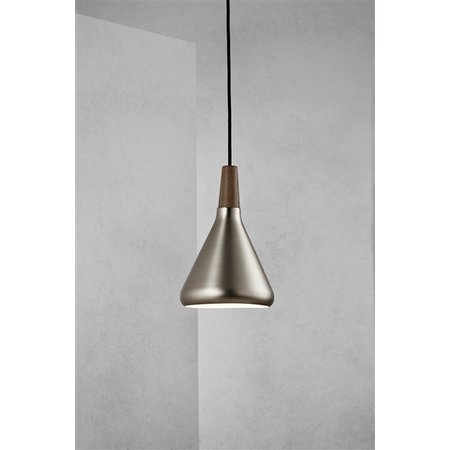Pendant light grey or copper conic E27 180mm Ø