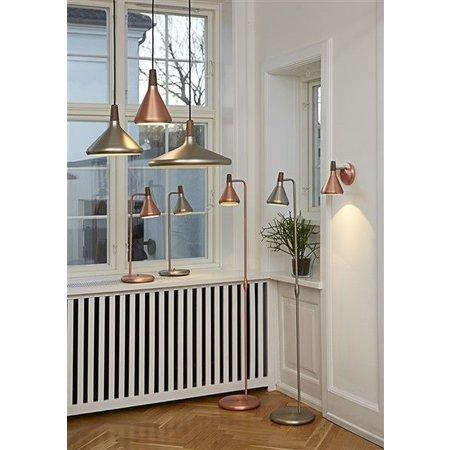 Hanglamp koper of grijs conisch E27 270mm Ø
