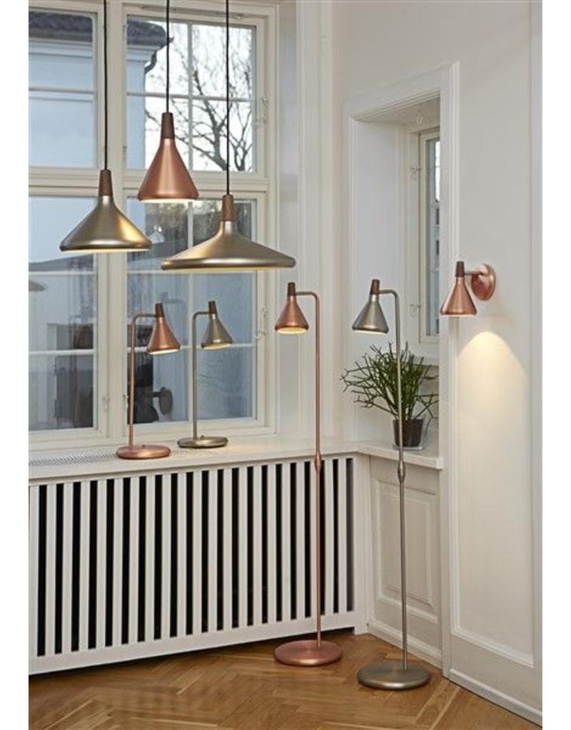 Verlichting online / Hanglamp koper of grijs conisch E27 270mm u00d8