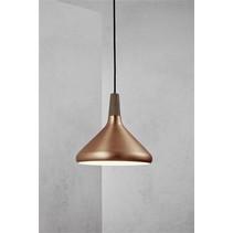 Luminaire suspendu cuivre ou gris conique E27 270mm Ø