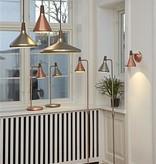 Luminaire suspendu cuivre ou gris E27 conique 390mm Ø