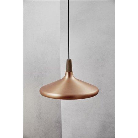 Hanglamp koper of grijs conisch E27 390mm Ø