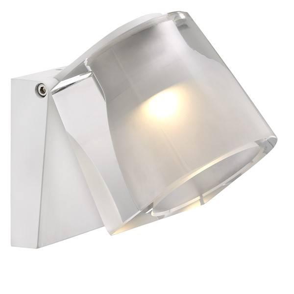 Wandlamp badkamer LED wit of chroom 3W 105mm breed | Myplanetled