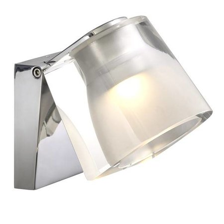 Wall light bathroom LED white or chrome 3W 105mm wide