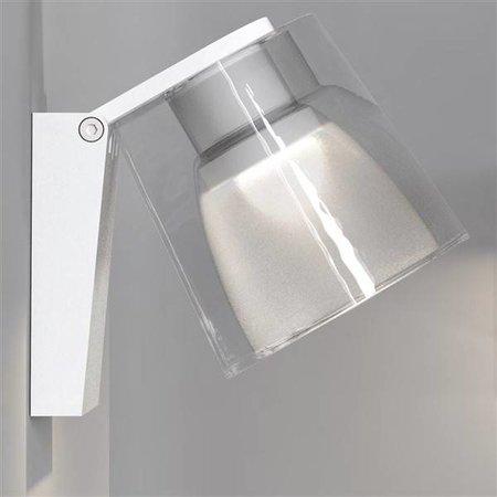 Applique murale salle de bain LED blanche, chrome 3W 105