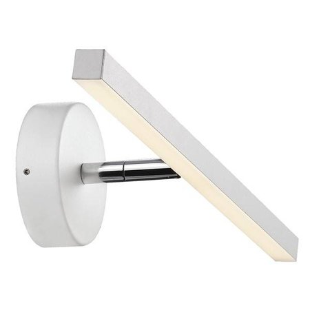 Wall light bathroom LED white or grey 5,6W 400mm wide