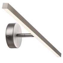 Wall light bathroom LED white or grey 6,5W 600mm wide