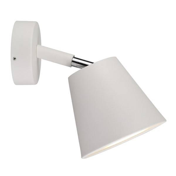 applique murale salle de bain blanche ou grise orientable. Black Bedroom Furniture Sets. Home Design Ideas