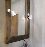 Applique murale salle de bain blanche ou grise GU10 125mm