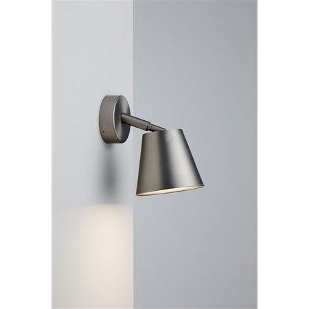Wandlamp badkamer wit of grijs draaibaar 80° GU10 125mm Ø