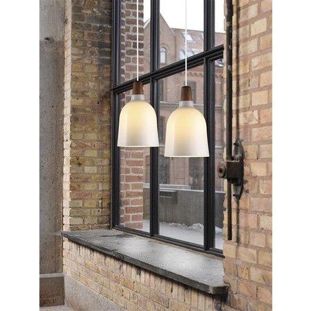 Hanglamp glas E27 conisch 200mm Ø