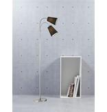 Floor lamp with reading light black 2xE14 1550mm high