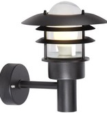 Outdoor wall light black or grey E27 IP44 220mm Ø