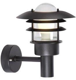 Wandlamp buiten industrieel zwart-grijs E27 IP44 220mm