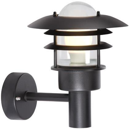 Outdoor wall light black or grey E27 IP44 220mm Ø
