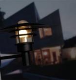 Outdoor wall light black-white-galvanized E27 IP44 320mm