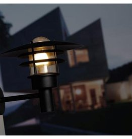 Outdoor wall light black-white-galvanized E27 IP44 320mm