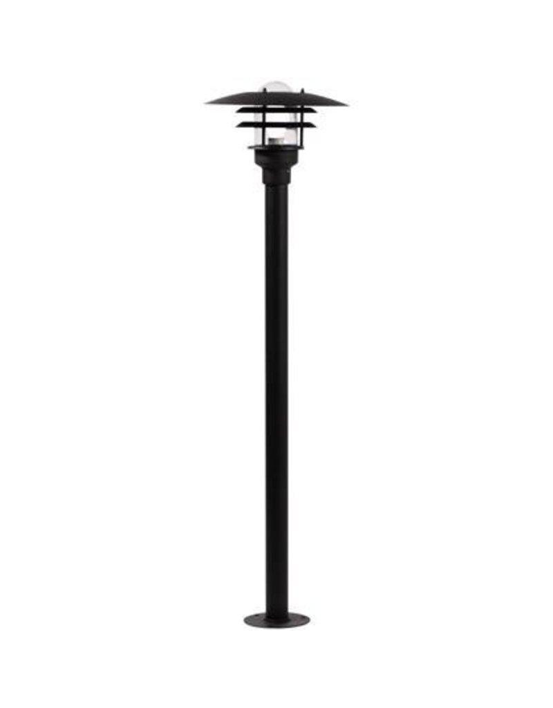 Bollard black, white or grey E27 IP44 1160mm high