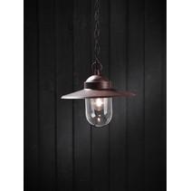 Hanglamp landelijk roest E27 ketting 1600mm hoog