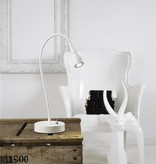 Desk lamp LED white-black-green-chrome flexible 390mm H