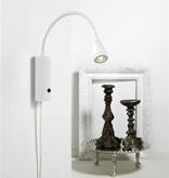 Wandlamp LED flexibel wit-zwart-groen-chroom 3W 220mm H