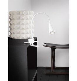 Bureaulamp klem LED wit of zwart flexibel 300mm