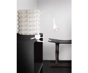 Bureaulamp klem led wit of zwart flexibel 300mm myplanetled