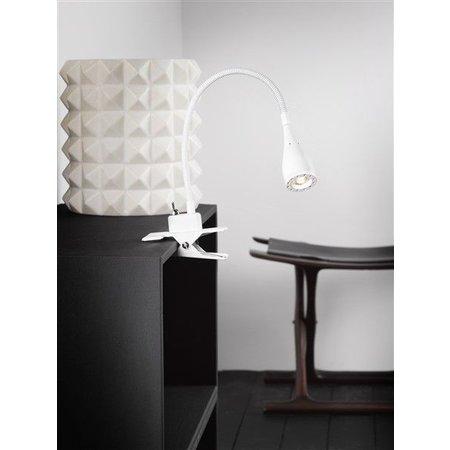 Lampe de bureau pince LED blanche ou noire 300 mm