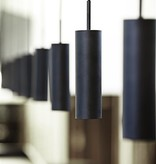 Pendant light design black or white orientable 270mm high