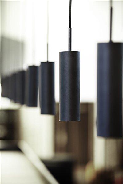 Luminaire suspendu design blanc ou noir orientable 270mm for Luminaire suspendu noir