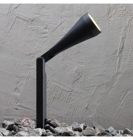 Grondspot zwart statief GU10 IP44 190mm
